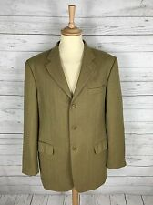 Mens M&S Italian Wool & Cashmere Jacket/Blazer - 42L - Beige - Great Condition