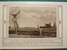 1915 WWI WW1 PRINT ~ SHOT FROM RUSSIAN FIELD-GUN IN GREAT WAR ~ SHRAPNEL BURST