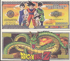 Dragon Ball Z Novelty Dollar Bill with Free shipping & Protector