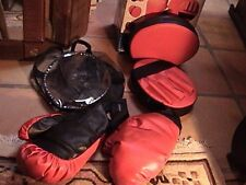 protocol boxing glove set with defensive mitts in bag red & black training set