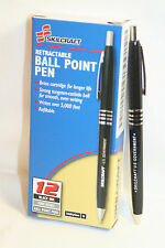 Skilcraft U.S. Government Retractable Ballpoint Pen Med Point, Black Ink 12 EA