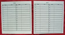 5 Replacement Index Cards - for 45rpm Record Carrying Case #1-50