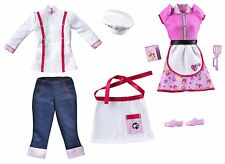 Barbie Doll I Can Be A Chef Fashion Pack - New Clothes Hat Apron Cook Set W3750