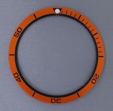 Orange Planet Ocean Style Bezel Insert to fit Seiko 6105, 6309, 7002 & SKX007 ..