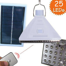 25LED Solar Power Camping Lamp Remote Control Hanging Tent Light Fishing Lantern