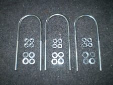 U bolt for mast pole M8 massive lot of 3 with free nuts and washers
