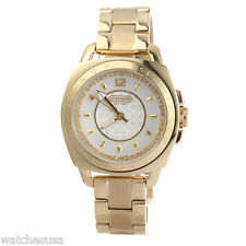 COACH 'Boyfriend' Crystal Detail Gold-tone Bracelet Watch 14501285