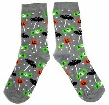 LADIES HALLOWEEN TRICK OR TREAT BATS & CANDY SWEETS SOCKS ONE SIZE