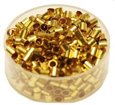 Solid Brass Tube Crimp Beads 3 x 3 Mm Pkg.of 500 P. (Hole 2.5 mm ) Raw Brass