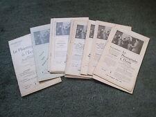 REVUE LE PHONOGRAPHE A L'ECOLE N°s 1 à 13, 1936-38 + index