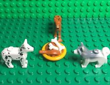 Lego Animals Lot Husky,Dalmatian,Shepherd Dogs,short Bones,drumstick,Food dish