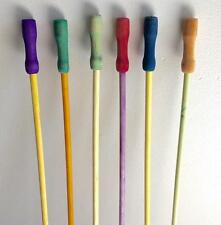 """6 Vintage Carnival Fair Circus Canes Walking Sticks Wood Colorful 34"""" to 35"""""""