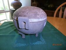 Han Dynasty Ding Form Jar w Cover 3 Leg (206 BC-220 AD) Antique China Chinese