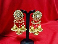 Indian Bollywood Gold Plated Jhumka Earrings Ethnic Fashion Jewelry