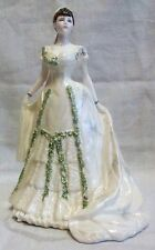 Ltd Ed Coalport Royal Bride Queen Mary Figurine By J Bromley