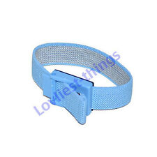 ESD Antistatic wrist strap adjustable with 10mm stud  blue