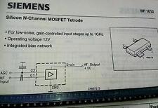 10 Stück Siemens BF1012 Silicon N-Channel MOSFET Tetrode SOT143R (M1465)