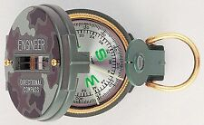 Camo Lensatic Compass - Liquid Filled Compass with Magnifying Glass - Camo Case