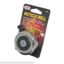 "BICYCLE BELL old-fashioned style silver metal 2-1/8"" diam BIKE kids adult retro"