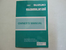 1986 SUZUKI SAMURAI Factory Owners Manual NEW FACTORY BOOK SAMURAI OEM BOOKLET X