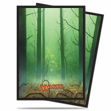 Ultra Pro MTG Unhinged Full Art Land 80ct Card Deck Sleeves -Forest-Green 86458