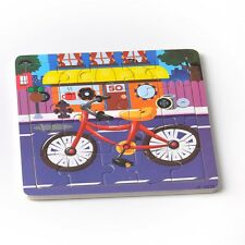 20pcs Colorful Bike Puzzle Jigsaw Toddler Kids Early Learning Toys Educational