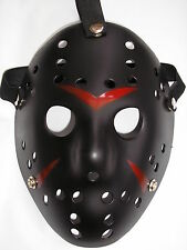 jason voorhees friday 13th black hockey halloween plastic horror mask