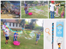 Huge giant soap bubble maker jumbo kit 2 magic wand stick concentrate powder 10L