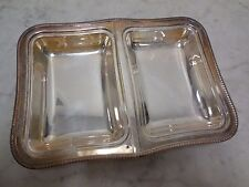 Antique Silver Plate Crescent Silverware MFG Co Hallmarked Double Serving Dish