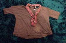 Grey Ladies Top With Scarf Size 20  BNWT