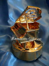 """Wizard of Oz Music Box gold Piano """"Over the Rainbow"""" & FABERGE Egg Necklace"""