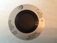 "BOYZONE . ALL THAT I NEED .  No.1 HIT . PROMOTION JUKEBOX ISSUE. RARE  7"" VINYL"