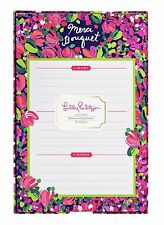 """LILLY PULITZER LIST PAD WILD CONFETTI 60 Notes in Patterned Tray """"Merci Bouquet"""""""