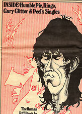 """SOUNDS """"MAG""""1975.KEITH RICHARD / STONES.""""HUMAN RIFF PLUGS IN"""" 3 PAGE SPECIAL.VG+"""