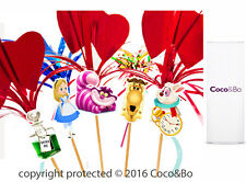 Coco&Bo 10 x Don't Be Late Tea Party Picks Alice in Wonderland Table Decorations