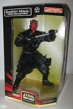 "Darth Maul Mega Collectible Doll with Light Up Saber App12"" MIB"