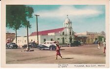 """The Church, La Iglecia, Tijuana, Baja Calif., Mexico"" Postcard * FREE US SHIP"