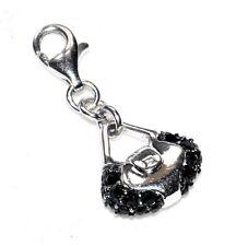 AGATHA Charm's pendentif argent massif 925 pour bracelet sac à main noir bijou