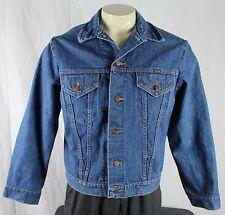 Wrangler Vintage 70's Western 2 Pocket Jean Denim Trucker Jacket Blue Mens 44