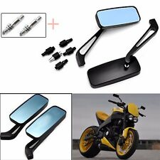 Black Motorcycle Rectangle Mirrors For Harley Softail Sportster Chopper Bobber