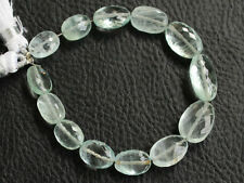 Natural Blue Aquamarine Faceted Oval Nugget Semi Precious Gemstone Beads