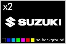 (2) Suzuki Sticker Vinyl Decal Motorcycle Helmet Tank Bike 600 750 1000 1100