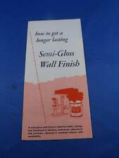 INFORMATION FLYER MELLO GLOSS WALL PAINT SUTHERLAND WOODSTOCK ONTARIO ADVERTISE