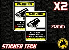 2 X PACK WARNING CCTV TELEVISION SECURITY SURVEILLANCE STICKER DECAL SIGN