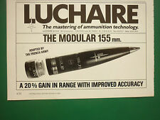 4/1989 PUB LUCHAIRE DEFENSE ARMEE FRANCAISE MUNITIONS AMMUNITIONS 155 MM AD