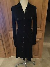 Women's MASSIMO DUTTI NWOT Black Long Sleeve Shirt Dress SZ S