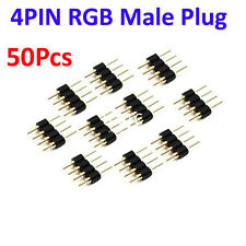 50Pcs 4Pin Male Plug Adapter Connector for RGB 3528 5050 LED Strip Light Connect