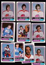1975 O-PEE-CHEE WHA Team SET Lot of 10 Quebec NORDIQUES NM- BERNIER TARDIF OPC
