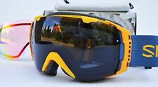 2016 NIB MENS SMITH I/O SNOWBOARD GOGGLES $180 Mustard Conditions Blackout Red