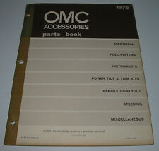 OMC Accessories Parts Book Electrical Fuel System Steering Remote Controls 1978!